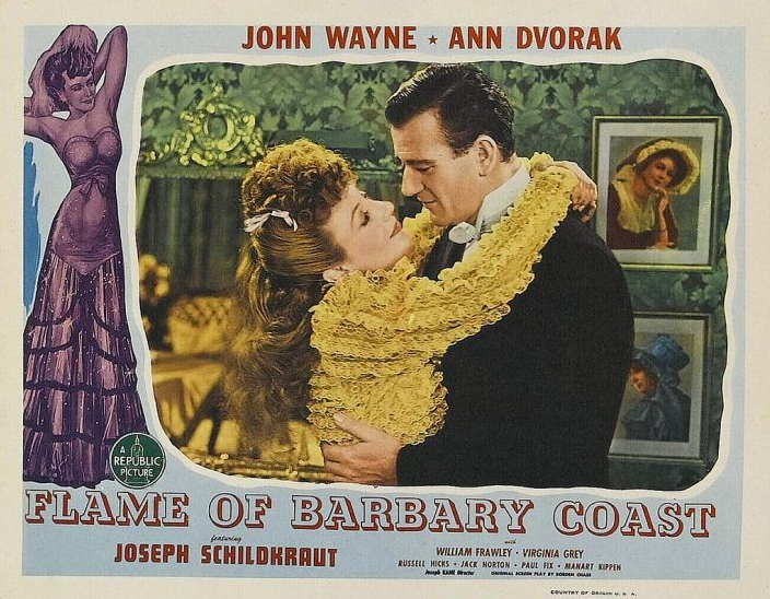 affiche FLAME OF BARBARY COAST